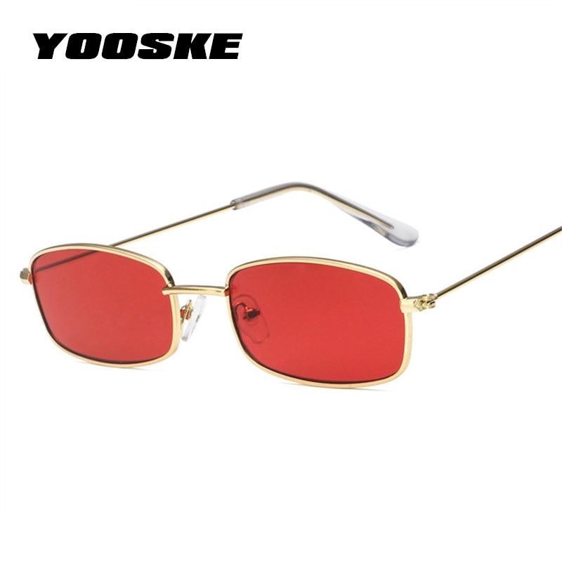 YOOSKE petites lunettes de soleil carrées femmes hommes marque Designer Vintage or clair lunettes de soleil unisexe Couple lunettes petite taille nuances