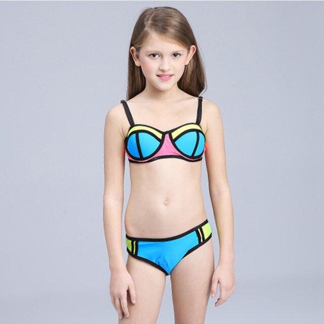 Ragazze Bambini Costume Da Bagno Bikini Patchwork Costumi Da Bagno ...