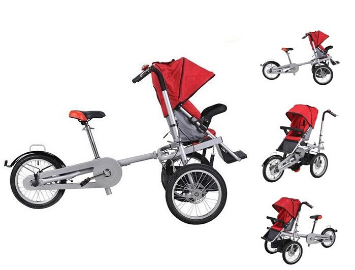 taga style ruituo  Mother and child stroller bike 2 in 1 can ride folding tricycle parent pram mother bike baby bike bicycletaga style ruituo  Mother and child stroller bike 2 in 1 can ride folding tricycle parent pram mother bike baby bike bicycle