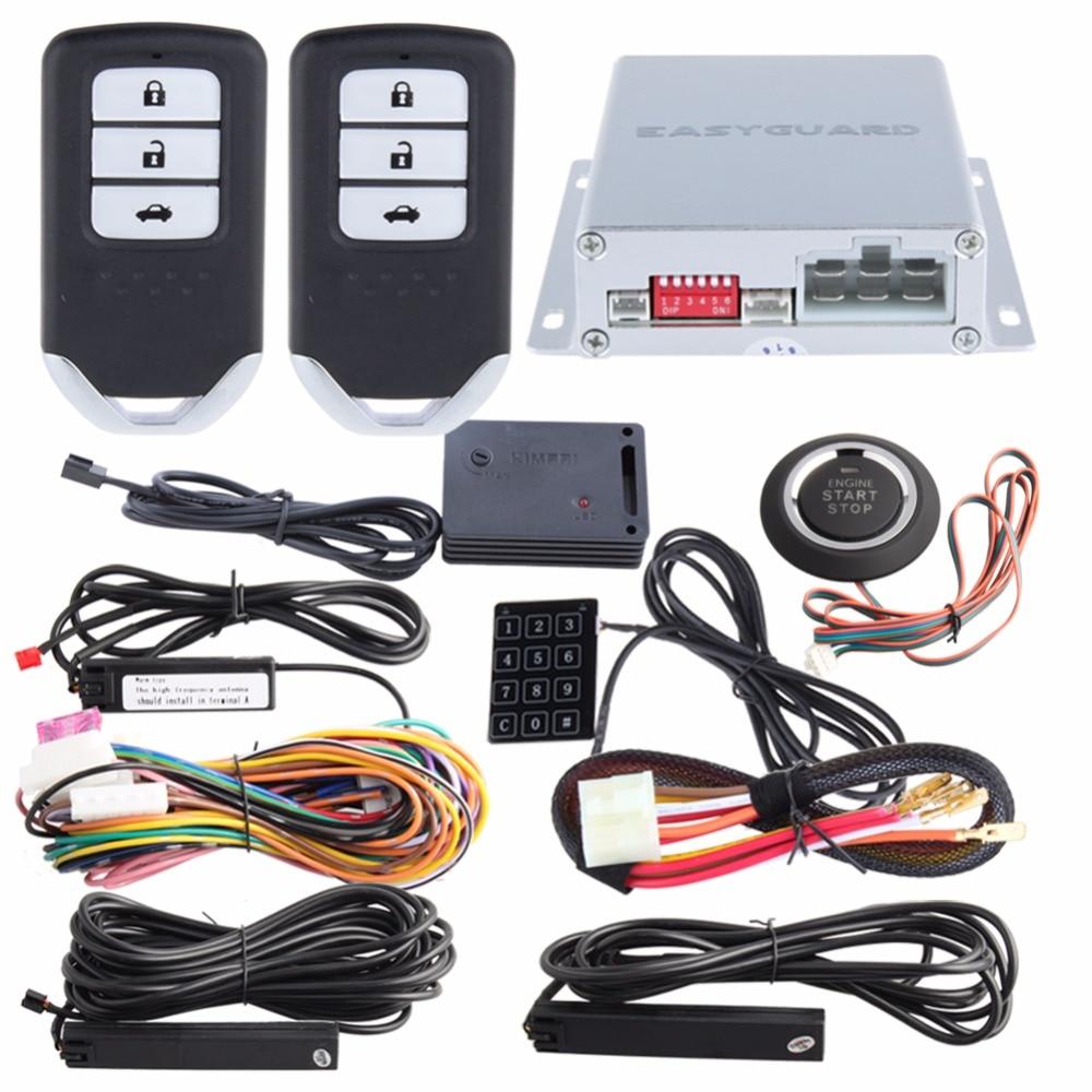EASYGUARD PKE universal keyless entry kit car alarm security system push start