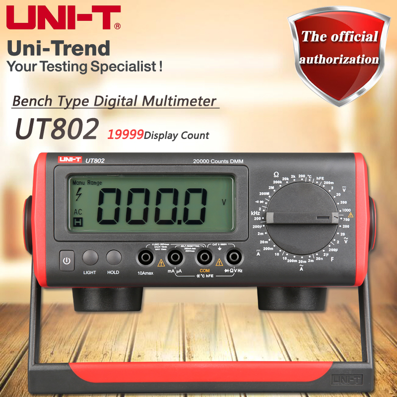 UNI-T UT802 Desktop Digital Multimeter High Precision Manual Multimeter Resistance / Capacitance / Frequency / Temperature Test hot sale ut802 uni t bench type digital multimeter automotive multimeter