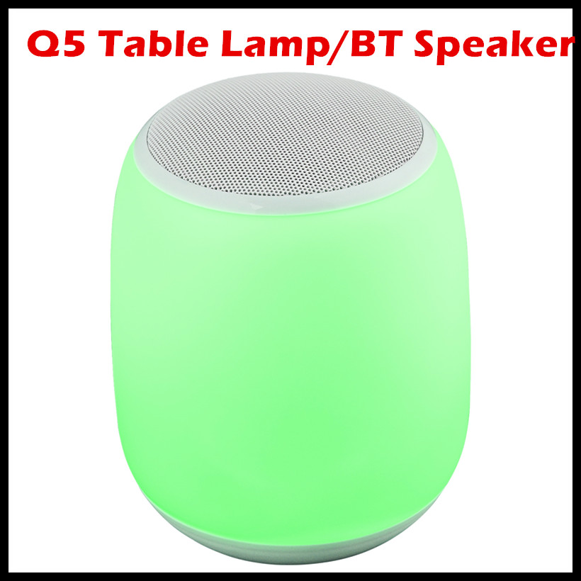 Portable Table Lamp Wireless Bluetooth Speaker Music Night Light-RGB Color Change Bedside Lamp Valentines Day Ambient Light