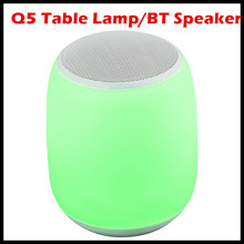 Портативный настольная лампа Беспроводной Bluetooth Динамик музыка ночник-RGB Цвет изменить ночники День Святого Валентина окружающего освещения