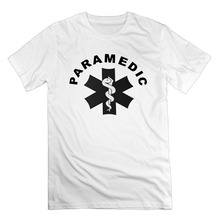 Casual T-Shirt Male Short Sleeve Pattern Men's Paramedic Theme Cotton Short Sleeve T Shirts