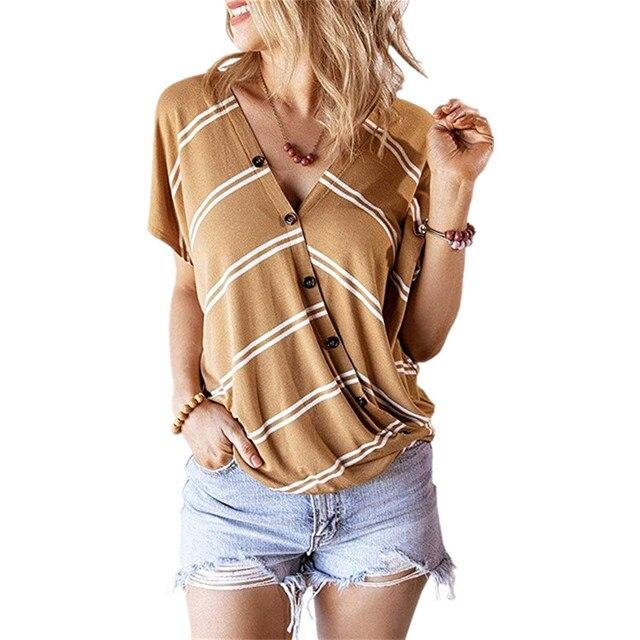 Summer VNeck Striped...