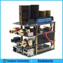 Raspberry Pi X20 Kit de Audio Hifi (placa X20 ES9028Q2M DAC/placa de X10 I2S/placa de alimentación X10 PWR/amplificador de X10 HPAMP (KitB)