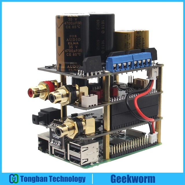 Raspberry Pi X20 Âm Thanh Hifi Bộ (X20 ES9028Q2M Đắc Ban/X10 I2S Ban/X10 PWR Nguồn Điện Cung Cấp Tàu/ x10 HPAMP Khuếch Đại (Kitb))