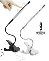 Touch Dimmable Flexible USB LED Eye Care Reading Book Light Adjustable Solid Clip Desk Lamp For