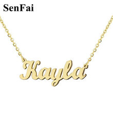 2018 New Name Necklace Customize Gold Silver Initials Pendants Necklaces For Women Men Alex Arabic Name Special Jewelry Gift(China)