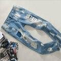 Модный Бренд Дизайн Лето стиль мужчин джинсы высокого качества вскользь мужчин брюки Бесплатная Доставка MF9685741