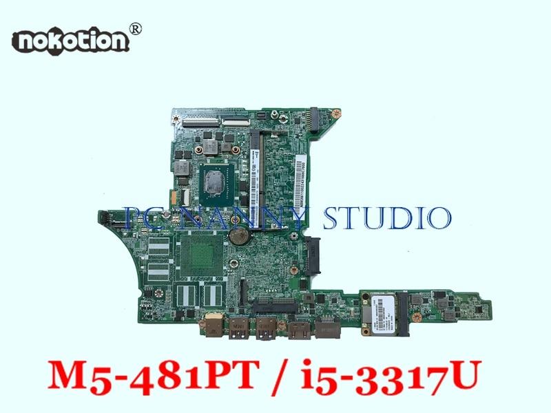 NOKOTION Mainboard NBM3W11002 DA0Z09MBAH0 for Acer Aspire M5 481PT i5 3317U HD 4000 Laptop Motherboard