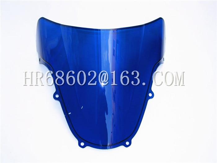 For Suzuki GSXR 1000 R GSXR600 750 R K1 K2 gsxr 1000 600 750 r k1 k2 2000 2001 2002 00 01 02 Blue Windshield WindScreen