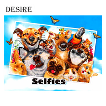 Desire Animal Dog Cat Family DIY Diamond Painting Cross Stitch Full Square Mosaic Picture of Rhinestone Embroidery PT34