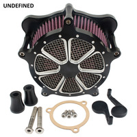 Black Contrast Cut Air Filter Motorcycle Venturi Air Cleaner System for Harley Touring Trike 2008 2016 Softail Dyna FXDLS 2017
