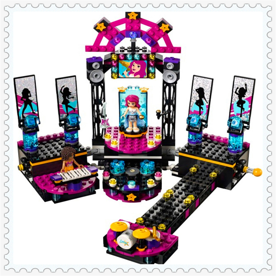 448Pcs Princess Livi Pop Star Show Stage Model Building Block Toys Enlighten 10406 Gift For Children Compatible Legoe 41105 new lepin 16008 cinderella princess castle city model building block kid educational toys for children gift compatible 71040