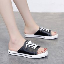 цены на Women's PU Leather Flat Sandals Summer Open Toe Beach Sandals Cool Lace-up Leisure Casual Sandals  в интернет-магазинах