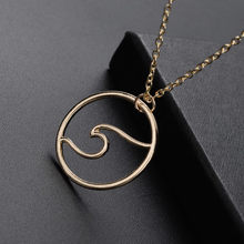 Men style necklace Women Fashion Wave Lightning Curb Cuban Link Gold Necklace Jewelry Chain(China)