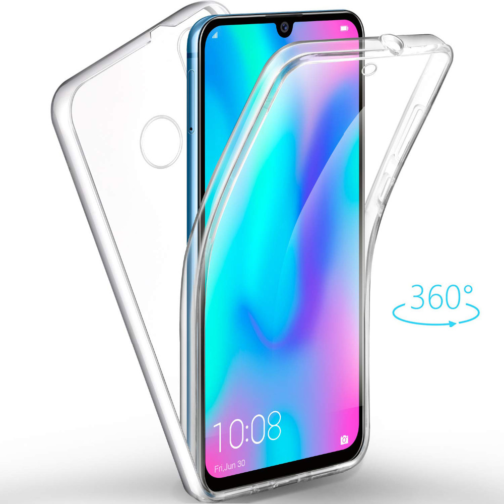 360 Degree Soft Silicone Gel TPU Clear Full Body Case Cover for Smart Cell Phone