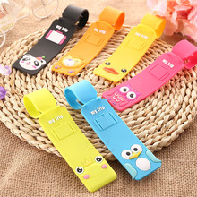 Cartoon suitcase card strip PVC luggage tags Boarding check card