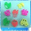 8 unids/lote mars arena mágica molde de arcilla fimo polymer clay luz suave de los niños juguetes educativos