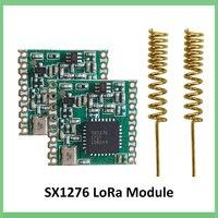 2 шт. 868 МГц Супер низкая мощность RF LoRa модуль SX1276 чип Long-Distance приемник связи и передатчик SPI IOT + 2 шт. антенны