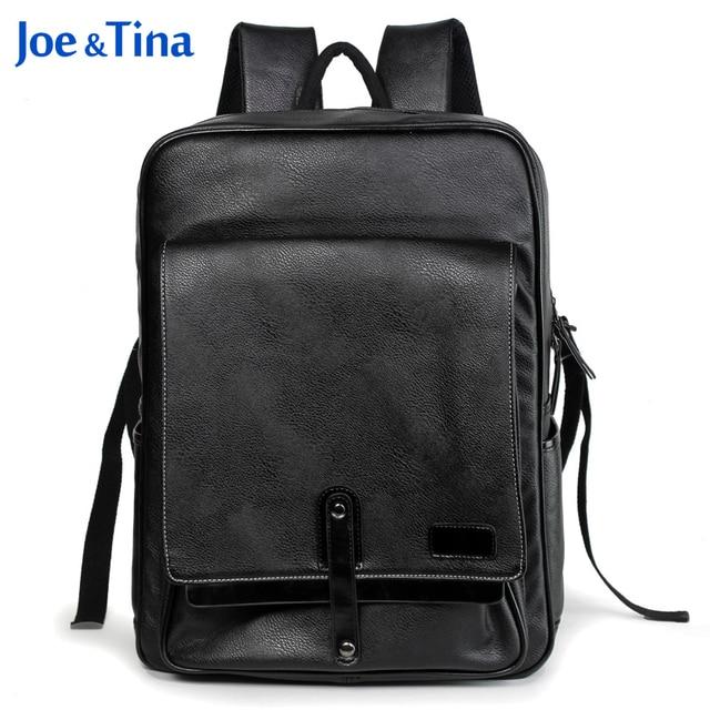 Laptop Backpack 15.6 inch for Men Women School Bags for Teenagers Mochila Escolar Men Travel Bags School PU Leather Backpack