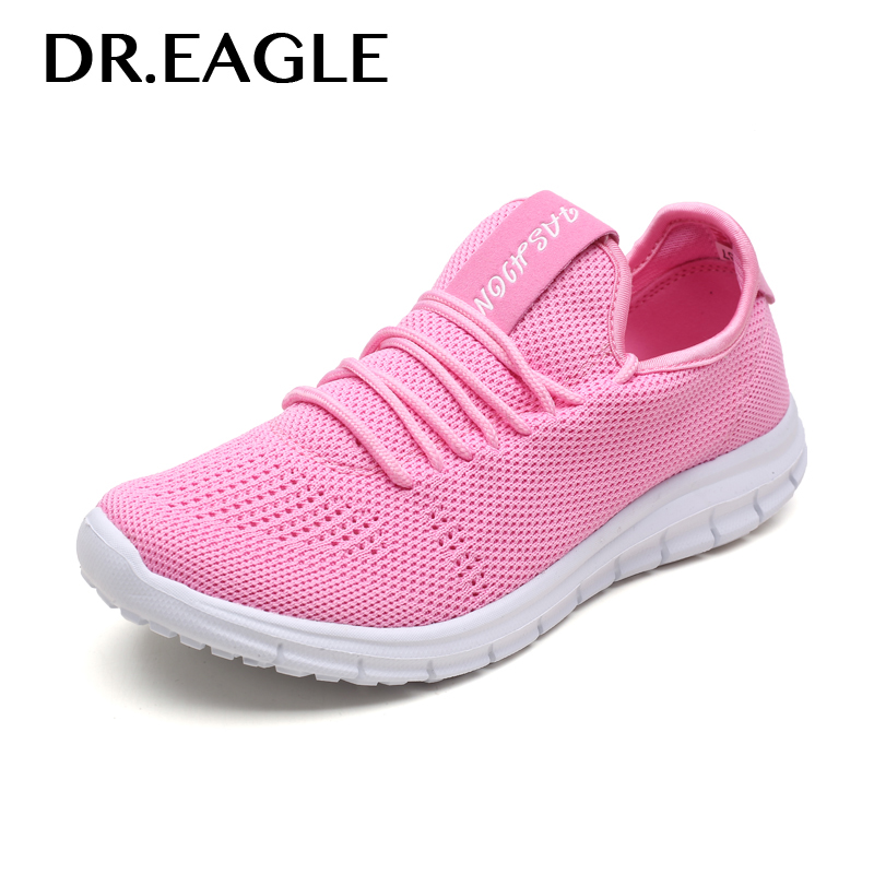 DR.EAGLE Sneakers running shoes women's red pink black mesh summer sport basket femme sneaker gym shoes women active camouflage pattern mesh gym tracksuit in pink
