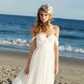 Hit Selling Off Shoulder Beach Boho Cheap Bohemian Wedding Dress 2017 Pleated Simple Cheap Bride Dress Backless Vestido De Noiva