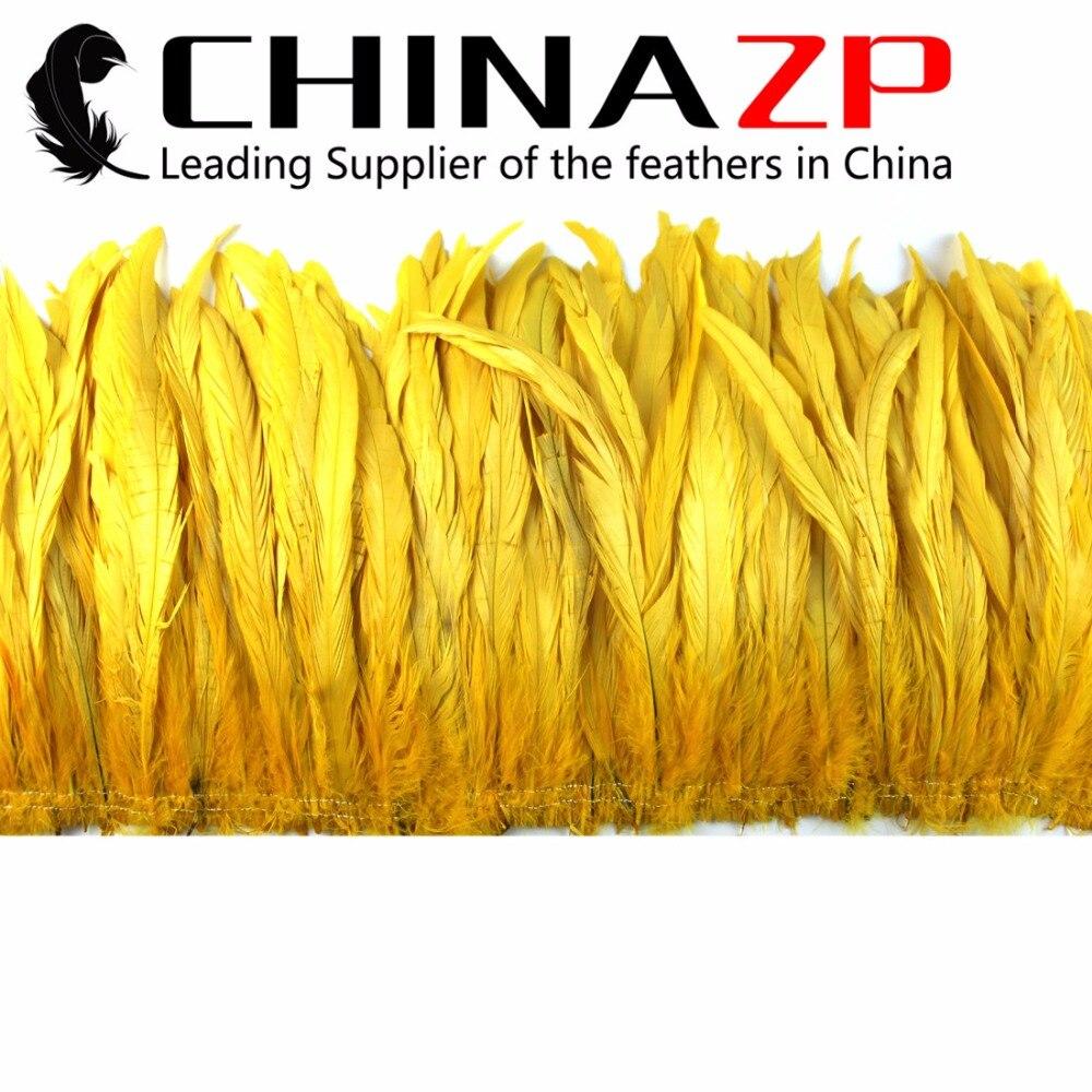 Chinazp Feathers розничная продажа от 10 до 12 дюймов перо Длина желтый натянутый натуральный окрашенный Coque Хвосты перья для дизайна платья
