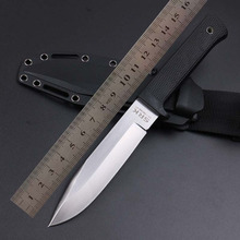 WTT Tactical Fixed Blade Straight Knife VG-1 Blade ABS Rubber Handle Survival Combat Hunting Knives Rescue EDC Multi Tools