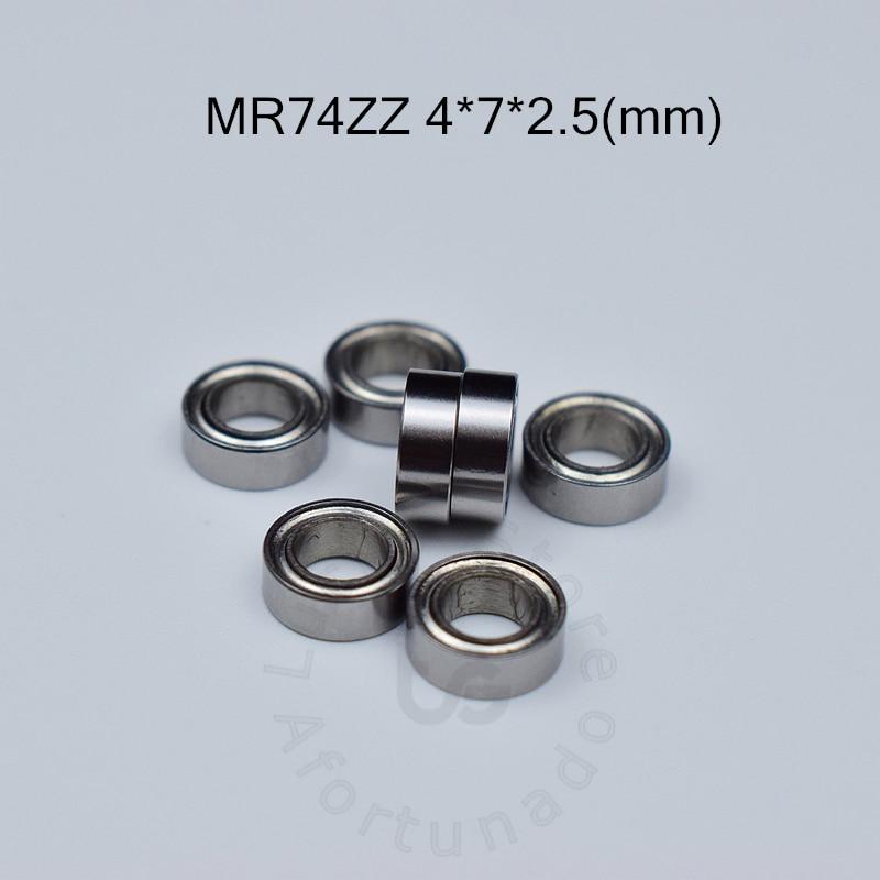 MR74ZZ free shipping bearing 4*7*2.5(mm) ABEC-5 Metal Sealed Miniature Mini Bearing MR74 MR74ZZ chrome steel deep groove bearing