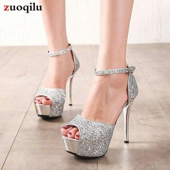 5fd905c8 2019 bombas de las mujeres Correa zapatos tacones de plataforma zapatos de mujer  Zapatos de tacón alto fiesta boda zapatos de mujer zapatos chaussure femme  ...