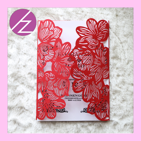 50pcs Lot Shimmer Paper Folded Wedding Invitation Cards Creative Design Supply Two Folds Cardsqj 30 In Invitations From Home