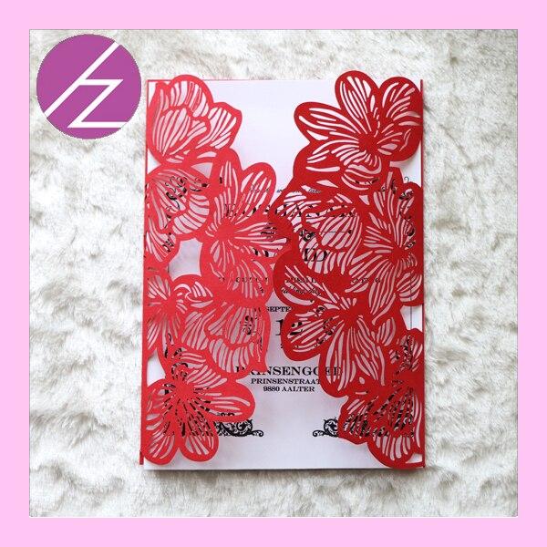 50pcs lot shimmer paper folded wedding invitation cards creative