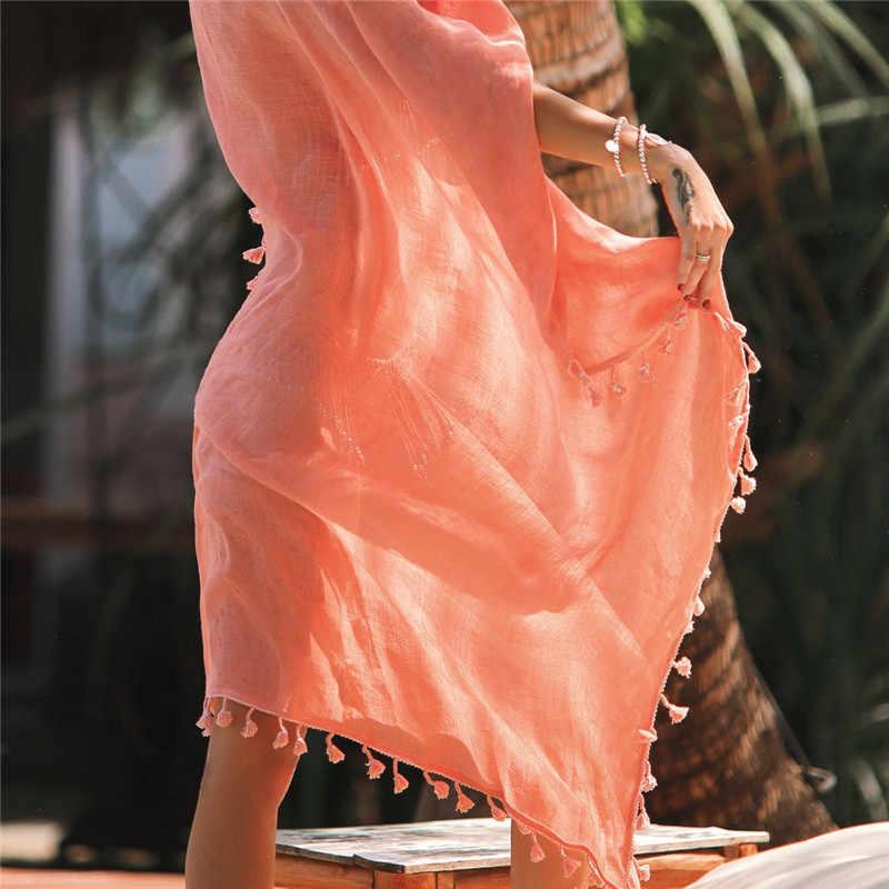 2019 Sexy Beach Cover Up Rumbai Bungkus Rok Bikini Pakaian Renang Wanita Baju Renang Wanita Pareo Musim Panas Pantai Chiffon Sarung
