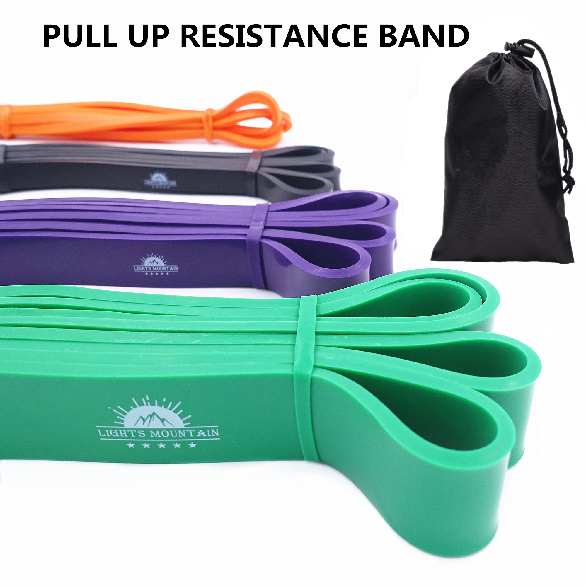 Pull Up Assistance Resistance Bands Stretch Elastic Bands For Fitness Workout Crossfit Power Training Set Of 4 Latex Expander