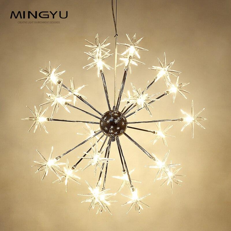 Современные Люстры лампа стеклянные звезды подвеска Рождество снег свет Отель Ресторан столовая гостиная освещение - 2