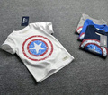 Boys top  2016 Brand summer Boys short sleeve t shirt for kids infantil Boy clothes Captain America tops Children clothing