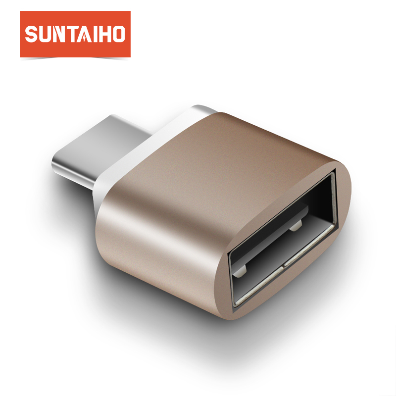 Suntaiho OTG Type C Adapter to USB 2.0 OTG USB C to USB Converter for Xiaomi mi 5 mi max 3 Note 8 Samsung S9 Plus Huawei p20 pro