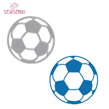 Купить с кэшбэком SEASENXI Soccer Football Metal Cutting Dies Stencils DIY Scrapbooking Dies Metal Album Decorative Embossing Paper Cards Craft