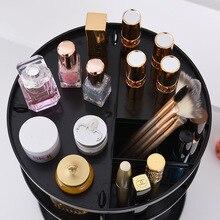 Fashion 360-degree Rotation Makeup Organizer Box Cosmetic Storage Box