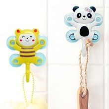 BF040 Cartoon multi-purpose tied with four suction cups storage hook 6*7cm free shipping