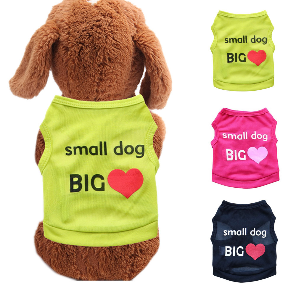 Dog Clothes For Small Dogs Pet Products Clothing Hot Dog Vest Pet Clothes Apparel Vest Costumes Summer