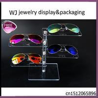 Toptan Şeffaf Akrilik Gözlük Ekran Raf Okuma Gözlükleri Standı Tutucu Miyopi Güneş Gözlüğü Organizatör Raf Vitrin 4 Katmanlar