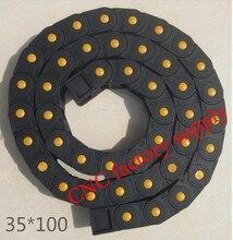 Бесплатная доставка 1 м 35 * 100 мм пластиковые кабель сопротивления цепи для станков с чпу, Полностью закрытого типа, Pa66