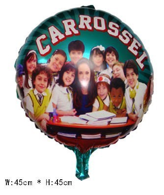 """50 PCS 18"""" Merry-Go-Round Helium balloons kids birthday party decorations Inflatable toys gifts for children games """"CARROSSEL"""""""