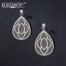 Badu Big Filigree Statement Earring for Women Rhinestone Dangle Drop Earrings Vintage Fashion Jewelry Wholesale badu 5 colors acrylic flower earrings for women big statement vintage dangle drop earrings wholesale