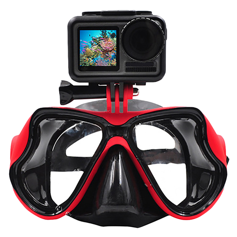 FULL-Underwater Camera Diving Mask Swimming Goggles For Dji Osmo Action/Gopro//Sjcam Sports/Action Camera(China)