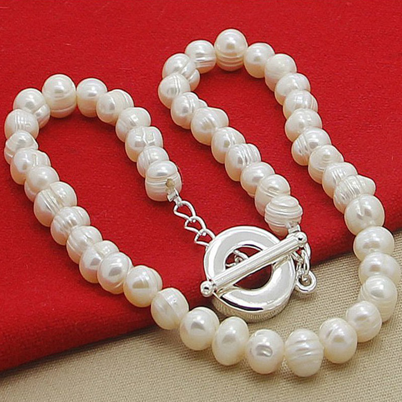 Freshwater Pearl Necklaces 925 Silver Necklaces Jewelry For Women Wedding Fashion Jewelry Shop The Nation