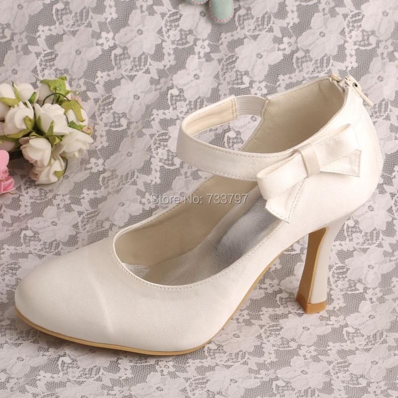 ФОТО Wedopus MW578 Ladies Closed Toe Wedding Ivory Shoes High Heel Dropshipping